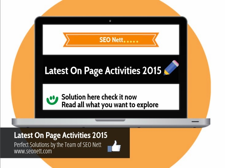 On Page Optimization Activities