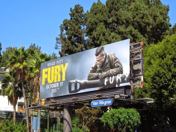 Fury movie billboard