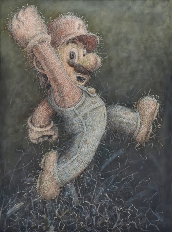 10-Mario-2-Alexi-Torres-Woven-Oil-Paintings-www-designstack-co