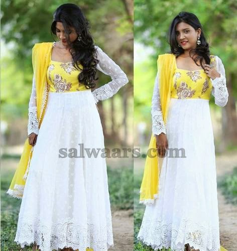 White Lace Salwar by Mugdha