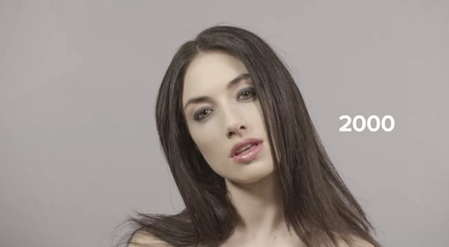 The chic 2000s. - A Video Breaks Down 100 Years Of Beauty Trends In One Minute