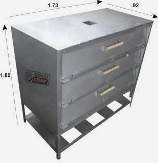 Soluchef hornos para panader a o pizzer a for Medidas de hornos pequenos