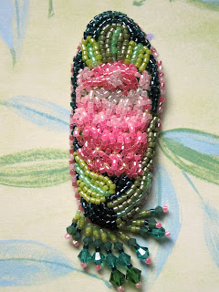 February Bead Journal Project 2011 - South African pink ice protea