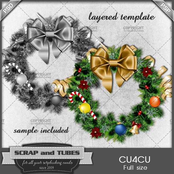 Christmas Wreath Template (FS/CU4CU) .Christmas+Wreath+Template_PV_S+and+T