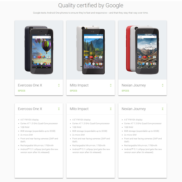 Android One devices in Indonesia