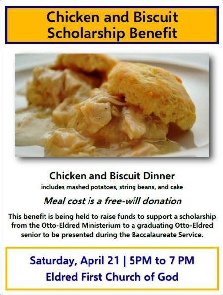 4-21 Chicken & Biscuit Dinner, Eldred, PA