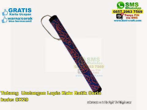 Tabung Undangan Lapis Kain Batik Ceria