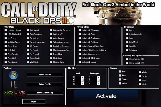 cheat codes for call of duty black ops 2