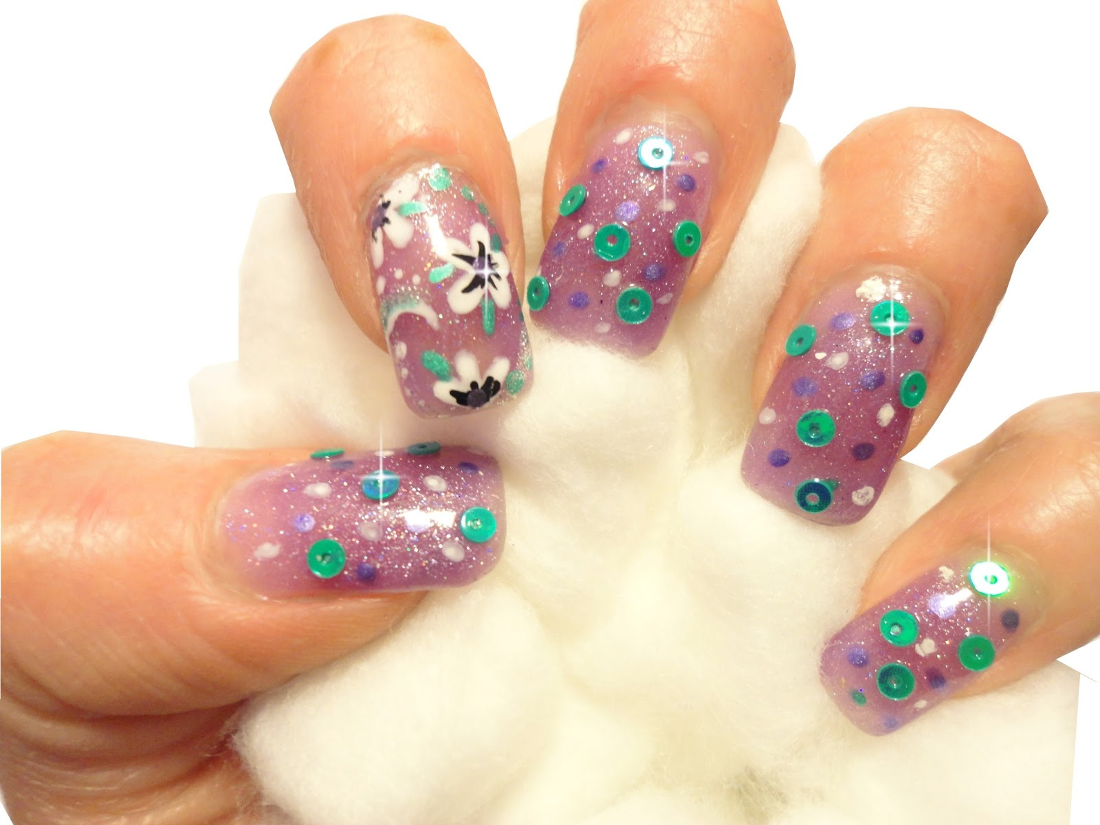 Sheba nails blog quick and easy flower nail art design with nail nail art design prinsesfo Gallery