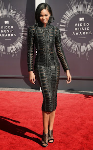 Chanel Iman en los premios MTV Awards 2014.