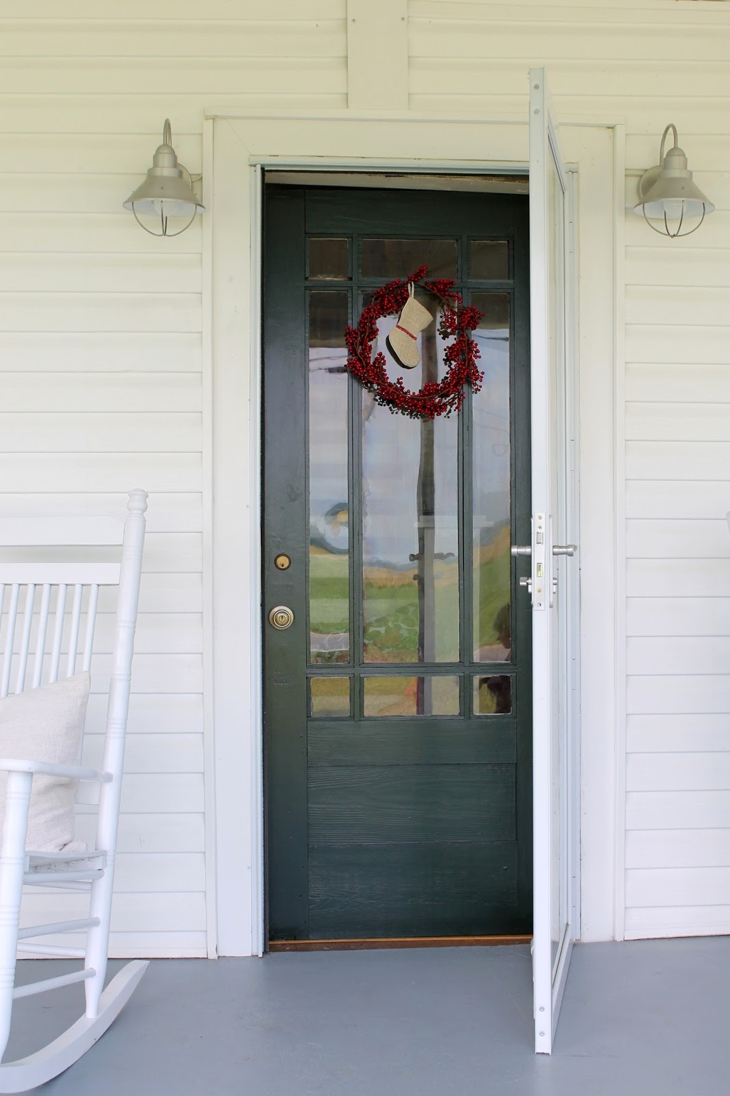 I Found This Old Picture Of Our Original Door. : ) Unfortunately, To Help  Mitigate The Draft And To Protect The Original Glass, A Storm Door Needed  To Be ...