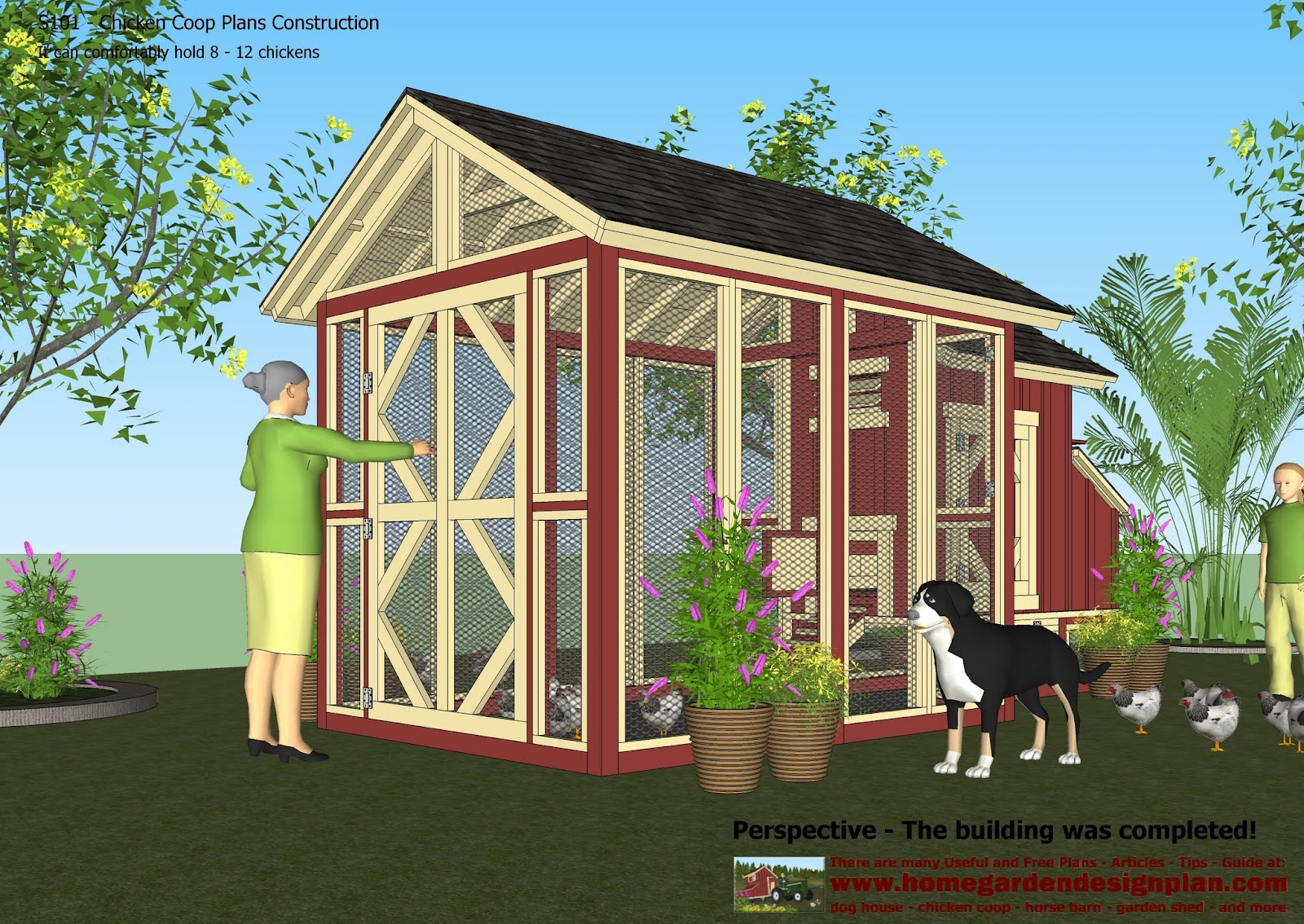 home garden plans s101 chicken coop plans construction