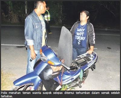 Kerana Nampak Polis Pakwe Lari Tinggalkan Kekasih Yang Terhumban Dalam Semak !!!