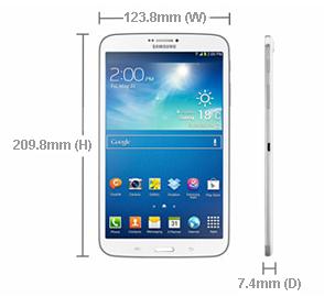 """Spesifikasi dan Harga Samsung Galaxy Tab3 8.0"""" SM-T311"""