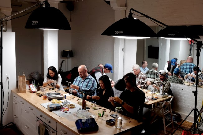 NYC Fly Meetup group Fly tying workshop