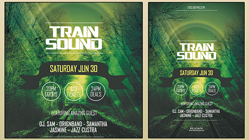 Design A Train Sound Flyer CMYK Photoshop Tutorial