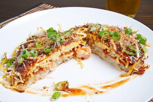 Okonomiyaki, Hiroshima Style on Closet Cooking