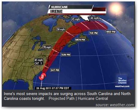 hurricane irene update august