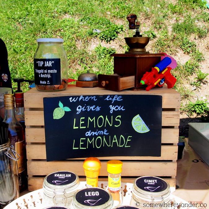 Lakeside lemonade in Lake Bled, Slovenia