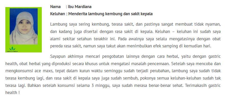 testimoni ibu mardiana