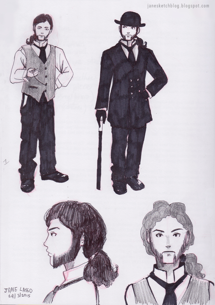 Dibujo de hombre victoriano