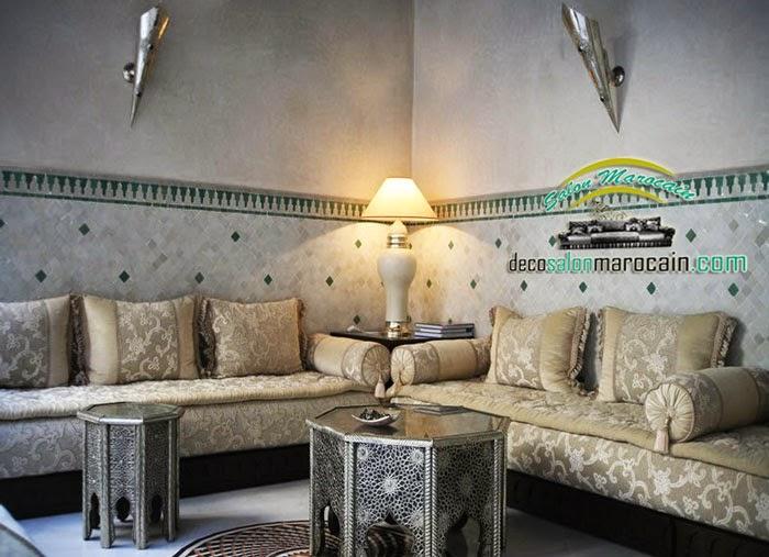 Salon marocain mille nuits et une nuit decoration marocaine - Faire un salon marocain ...
