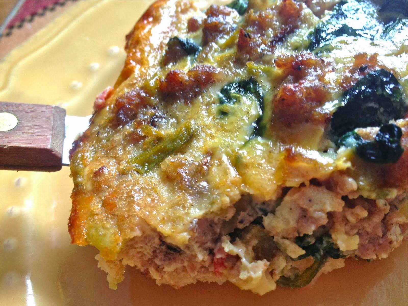 the preppy paleo: Paleo Breakfast Cauliflower Pie (Recipe Revisit)