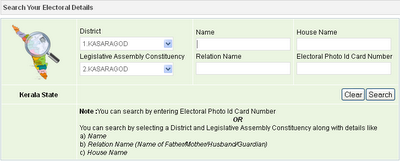 .kerala.gov.in – Kerala voter ID card online registration 2013-2014