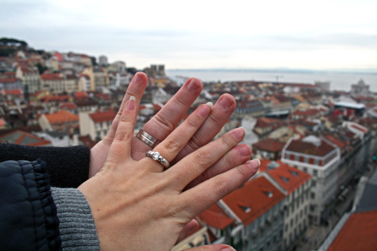 Wedding Ring Selfie Photo Tradition Lisbon Portugal