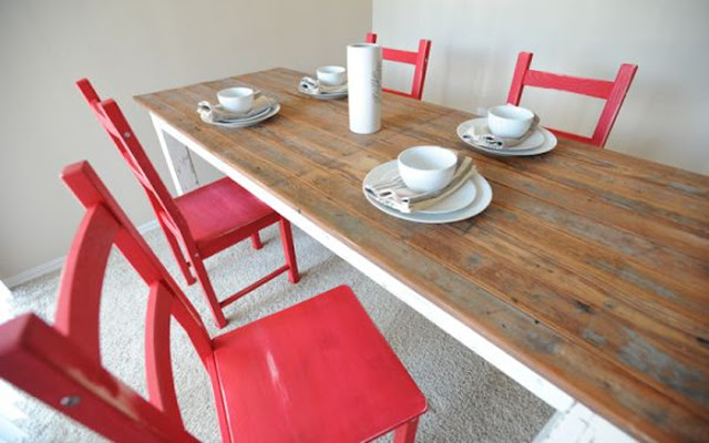 IKEA IVAR Distressed Farm Chairs