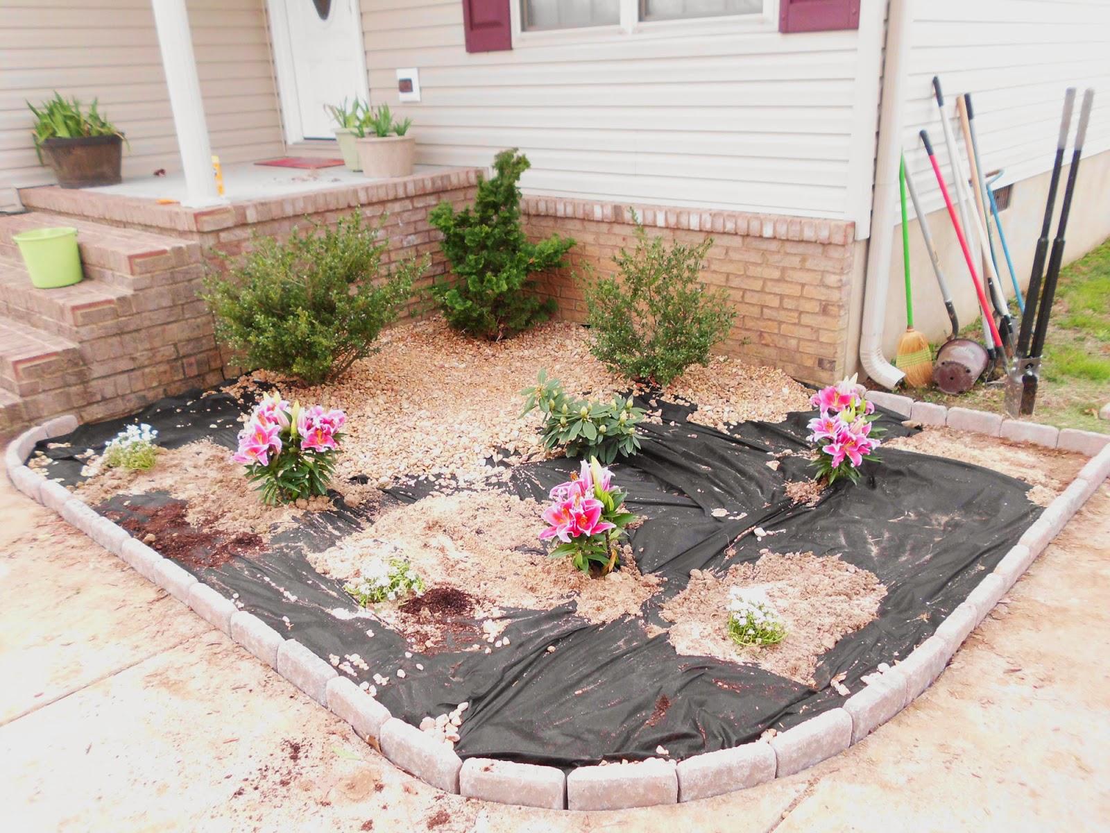 front flower garden makeover