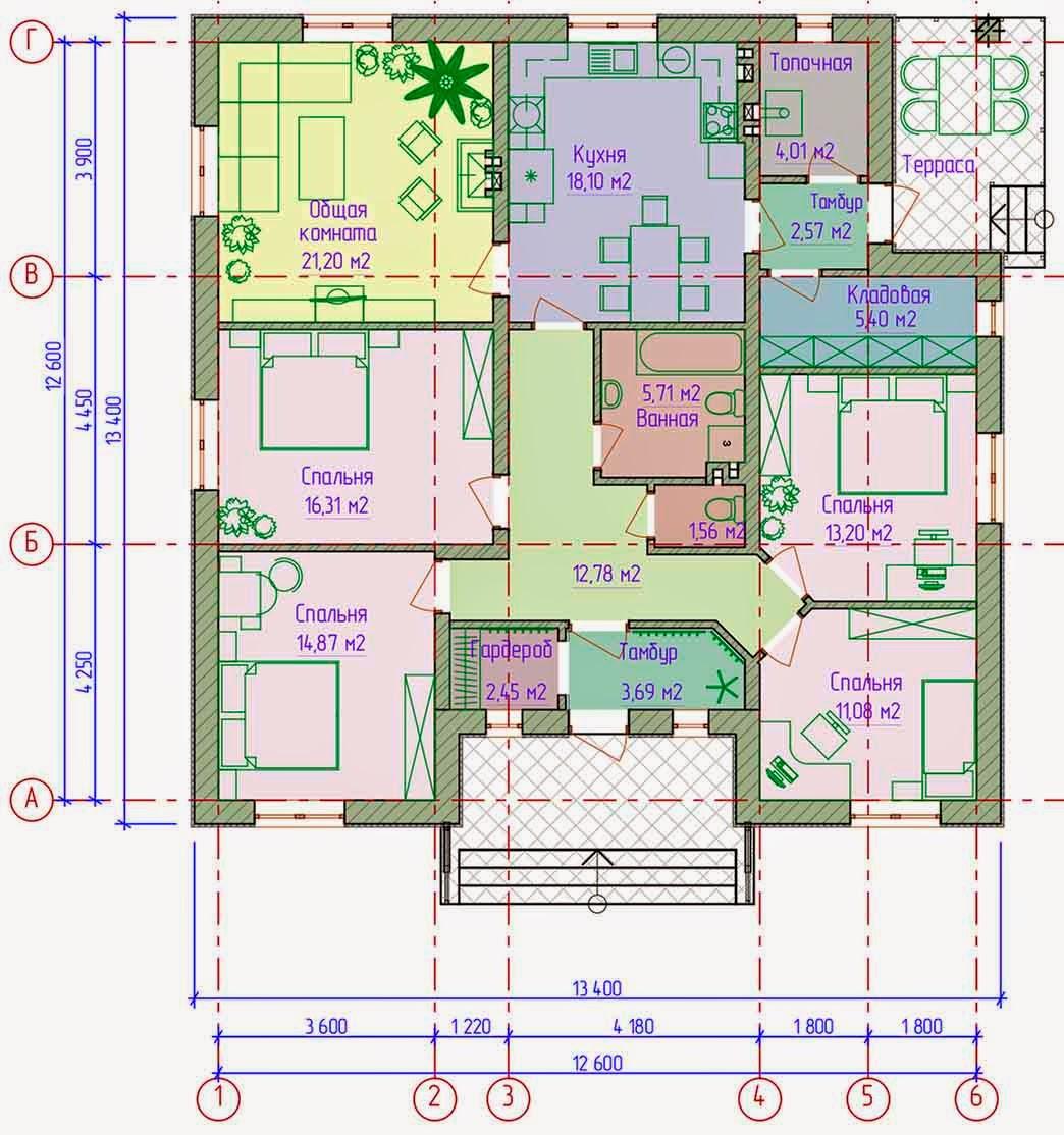 Проекты домов бесплатно с фото одноэтажные