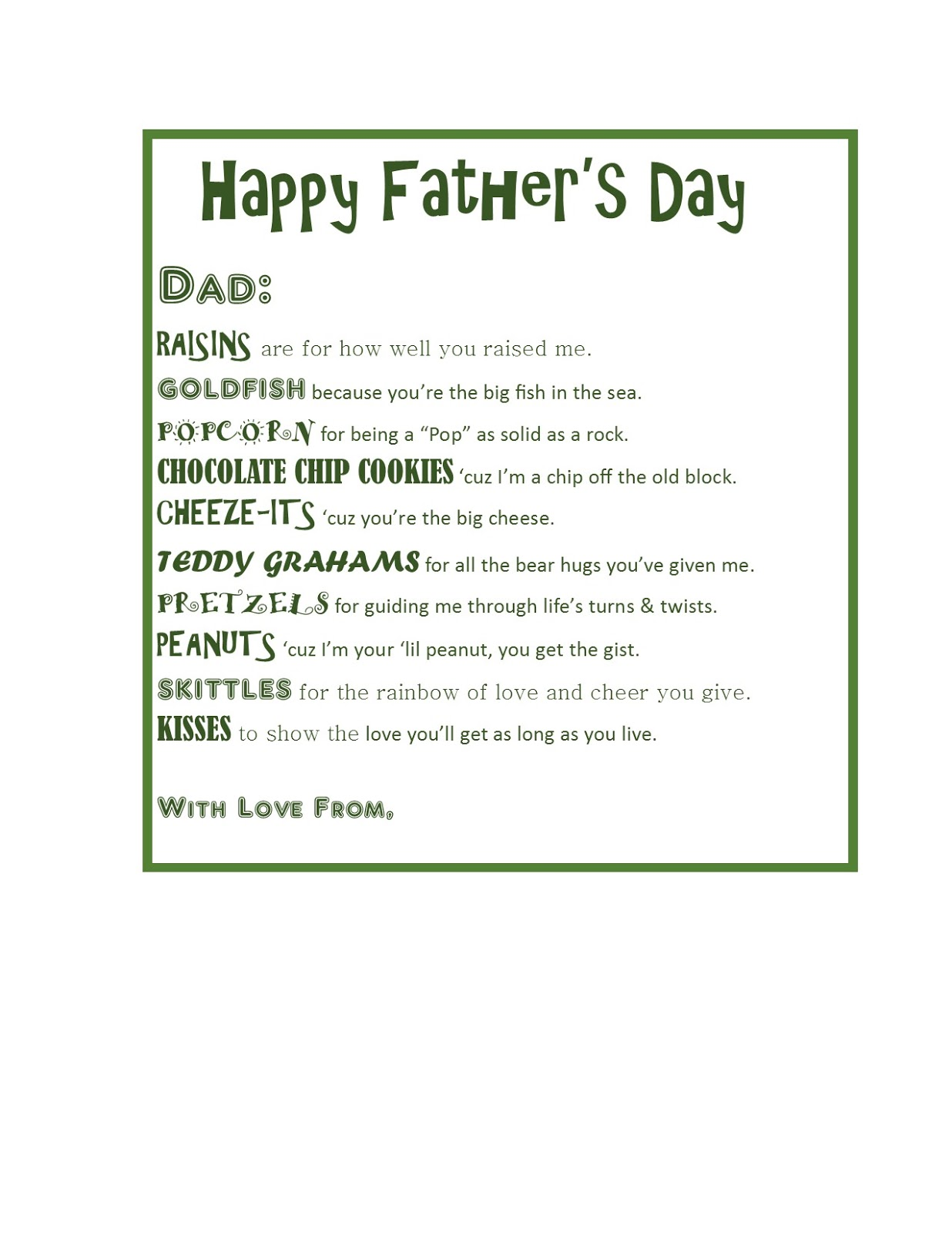 Uncategorized Poems For Fathers Day the devilish dish fathers day snack bags ive included image of poem i used please forgive me as my graphics programs have not been installed on new computer