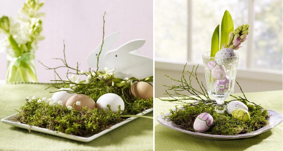 Decorating the easter table crafts and decor - Table easter decorations ...