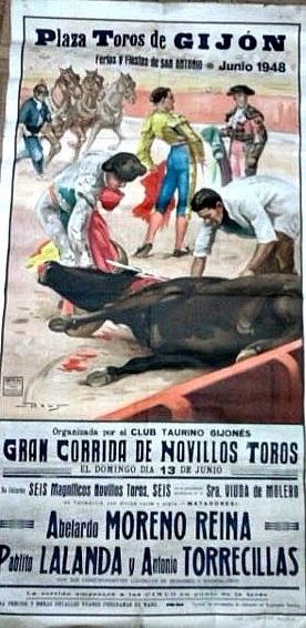 cartel toros gijon