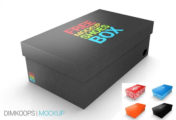 Download Packaging Mockup PSD Terbaru Gratis - Mockup Shoes BOX