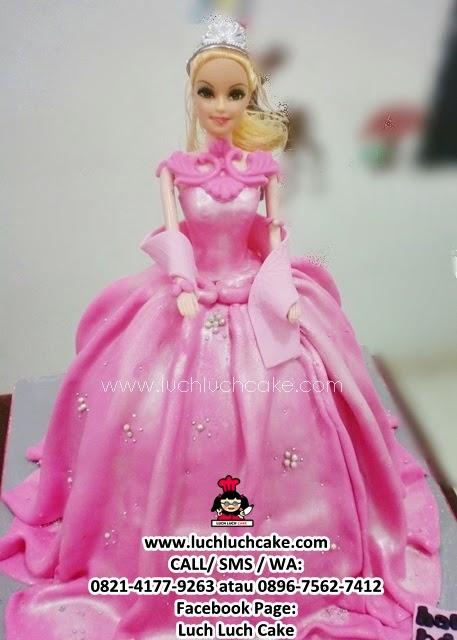 Kue Tart Princess Barbie Cake - Barbie Cake 3d Fondant Cake
