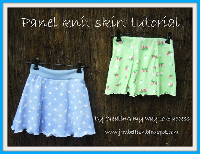 Panel Knit Skirt