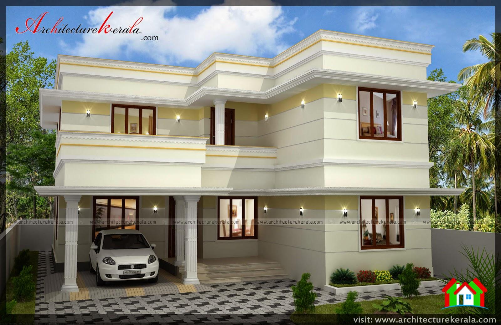 Three bedroom two storey house plan architecture kerala 2 floor home