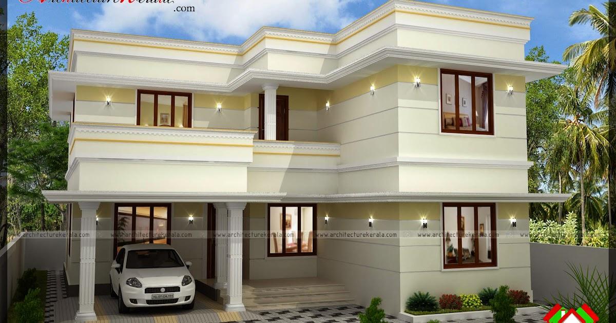 Three Bedroom Two Storey House Plan Architecture Kerala