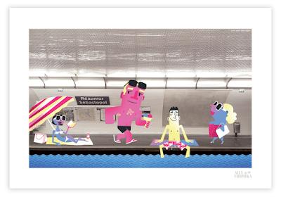 Alex Formika illustration métro RATP