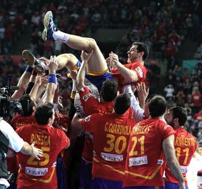 campeones del mundo de balonmano jugadores Alberto Entrerríos
