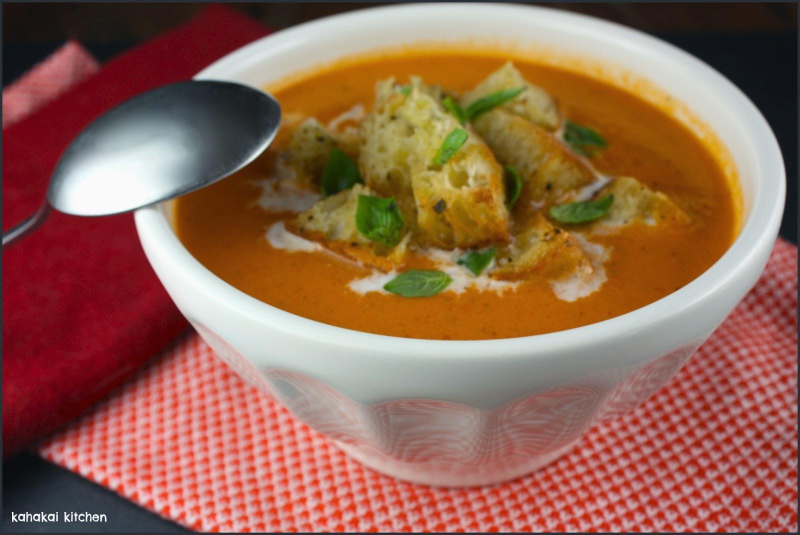 Kahakai Kitchen: Creamy, Spicy Tomato Soup (Zuppa Di ...