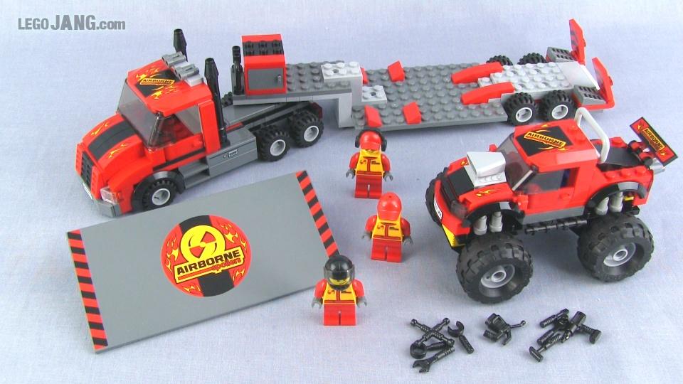 Lego city monster truck transporter 60027 set review