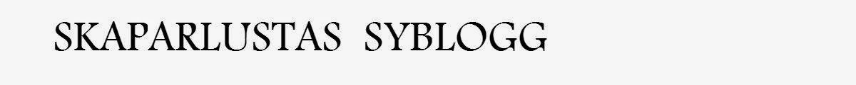 Skaparlustas syblogg