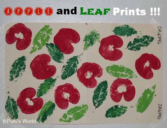 Apple and Leaf Prints