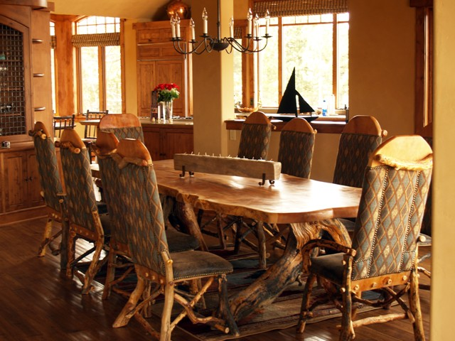 Home interiors and garden rustic furniture sets for your dining room