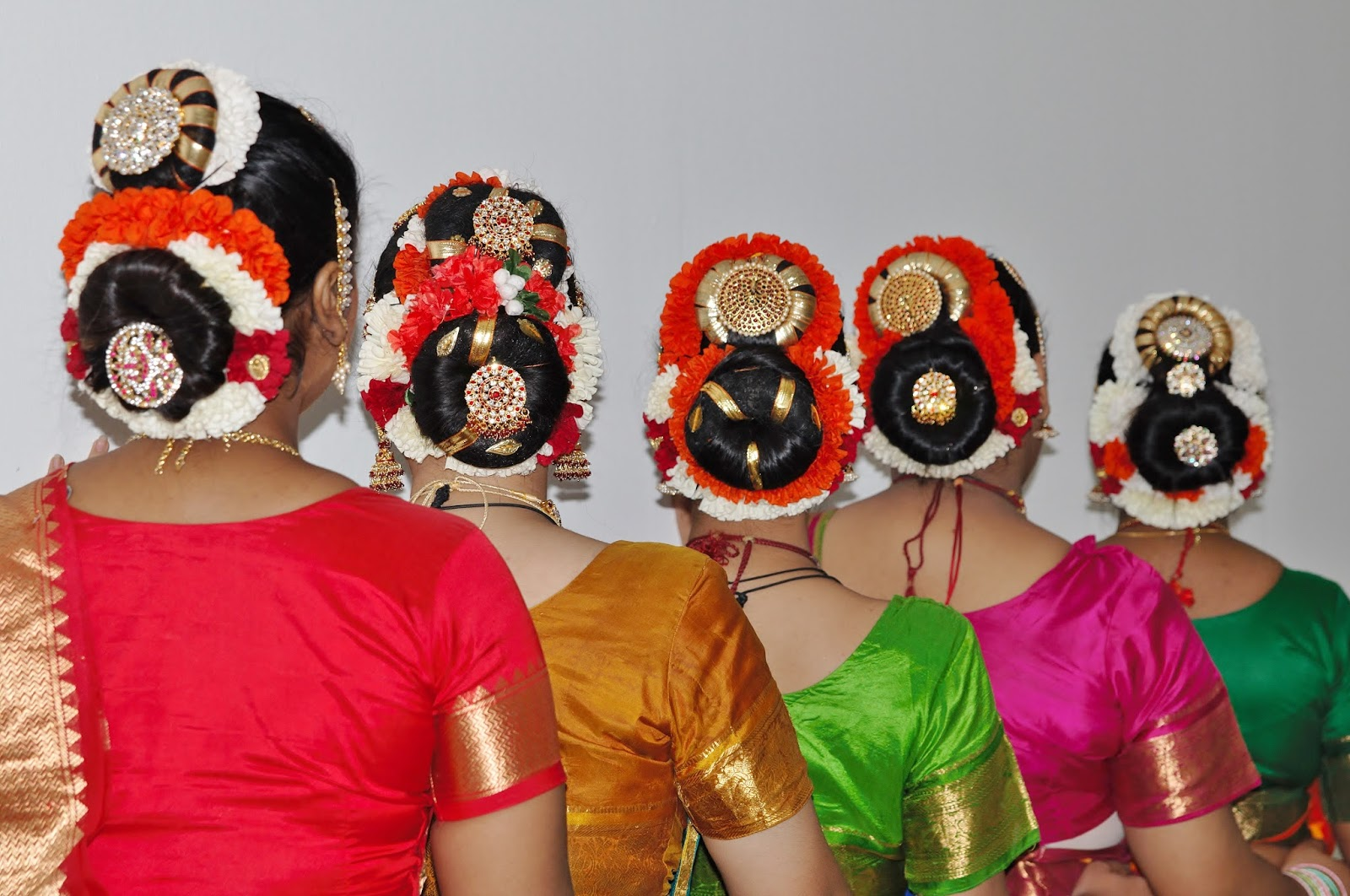 Pushpaarpanam Dance Group Different Hair Styles And Makeup For