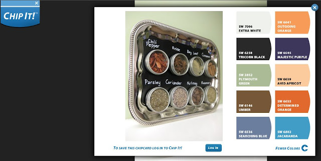 Chalkboard Magnetic Spice Rack from Salt & Ginger with Chip It! Paint Color Scheme