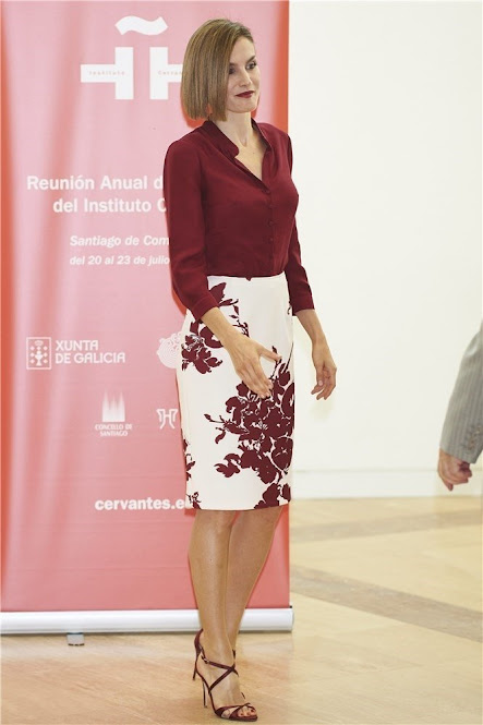 Queen Letizia of Spain attend the opening of the annual meeting of Cervantes Institute Directors